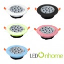 LED Ceiling light MSH Lens 12w. Multi Color case