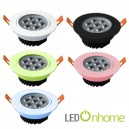 LED Ceiling light MSH Lens 7w. Multi Color case