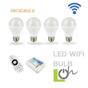 หลอดไฟ LED wifi Bulb 2.4G 6w PACK B