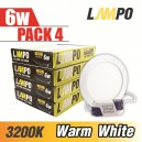 LED PANEL Slim Round 6W PACK 4