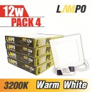 LED Slim PANEL Square 12w PACK 4