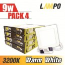 LED PANEL Slim Square 9W PACK 4