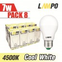 LED E27 STARBULB 7W PACK 8