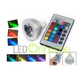LED MR16 Spotlamp RGB 3w.